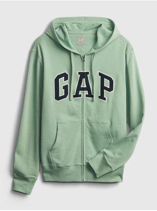 Zelená pánská mikina GAP Logo xls ft arch fz