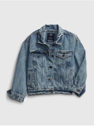 Detská džínová bunda teen oversized denim jacket Modrá