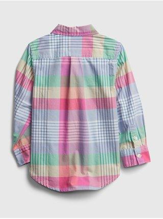 Detská košeľa plaid poplin shirt Farebná