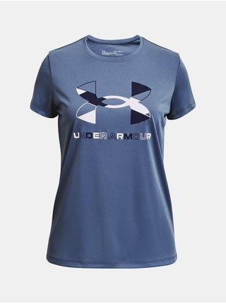 Tričko Under Armour Tech Graphic Big Logo SS - modrá