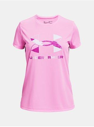 Tričko Under Armour Tech Graphic Big Logo SS - růžová