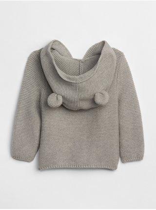 Šedý holčičí baby svetr brannan bear sweater