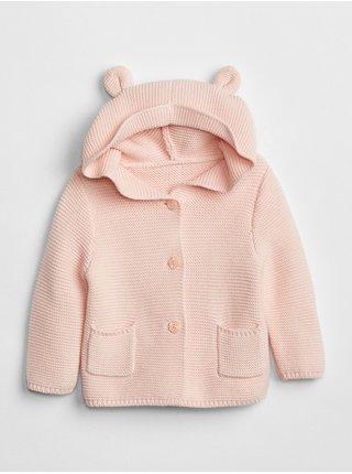 Růžový holčičí baby svetr brannan bear sweater
