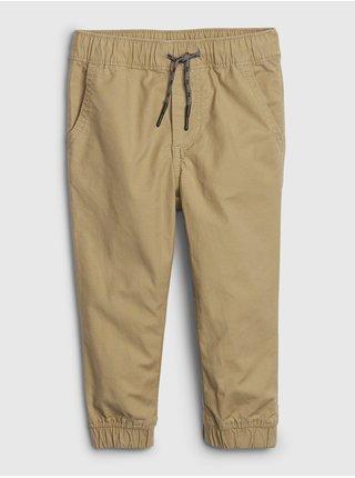 Béžové klučičí dětské kalhoty pull-on everyday joggers