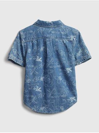 Modrá klučičí dětská košile ss med dnm dino