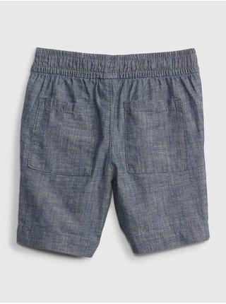 Šedé klučičí dětské kraťasy chambray pull-on shorts