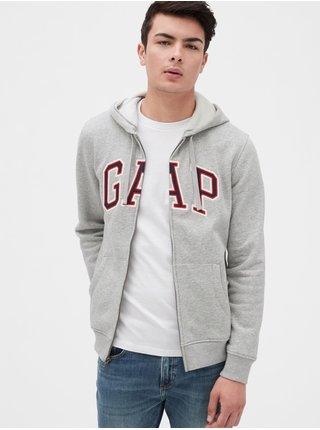 Mikina GAP Logo arch hoodie Šedá