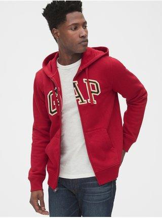 Mikina GAP Logo arch logo hoodie Červená