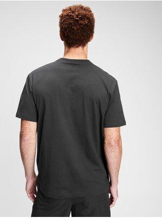 Tričko GAP Logo pocket t-shirt Čierna