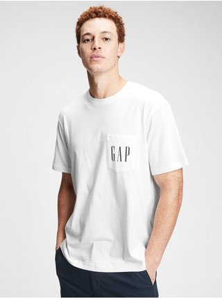Tričko GAP Logo pocket t-shirt Biela