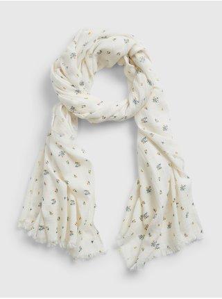 Bílý dámský šátek oblong scarf