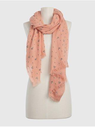 Růžová dámská šála sp oblong scarf