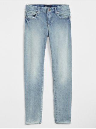 Modré holčičí dětské džíny super skinny jeans with stretch