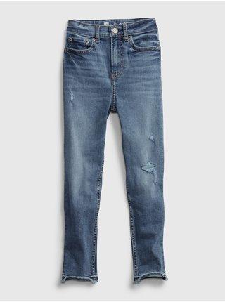 Modré holčičí dětské džíny tw sky high skinny