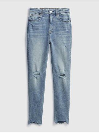 Detské džínsy sky high rise skinny ankle jeans with stretch Modrá
