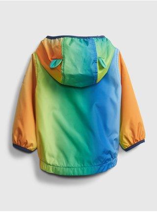 Baby bunda recycled rainbow windbuster Farebná