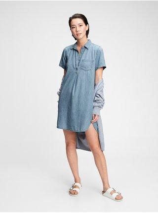 Džínsové šaty denim popover dress Modrá