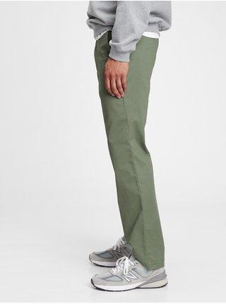 Nohavice modern khakis in straight fit with GapFlex Zelená