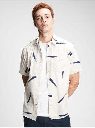 Bílá pánská košile ss pop reg collar