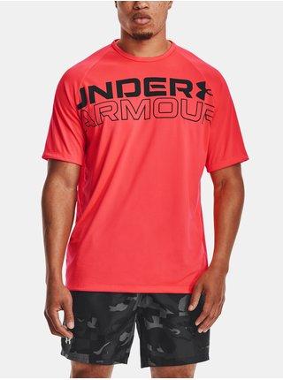 Tričko Under Armour TECH 2.0 WORDMARK SS - červená