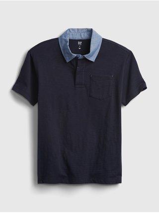 Modré klučičí dětské polo tričko chambray