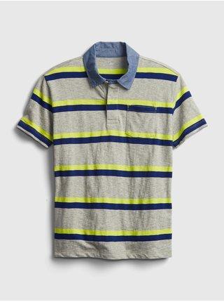 Barevné klučičí dětské polo tričko chambray