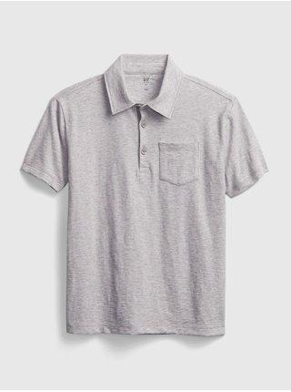 Šedé klučičí dětské polo tričko ss jrsy grncamo xl
