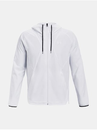 Bunda Under Armour WOVEN WINDBREAKER - bílá