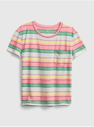 Detské tričko print pocket Farebná