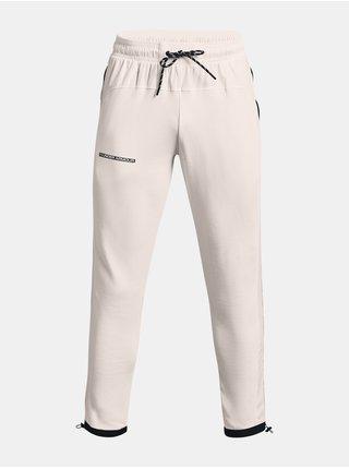 Kalhoty Under Armour RIVAL TERRY AMP PANT - bílá