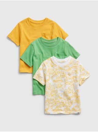 Barevné klučičí dětské tričko ptf organic ss, 3 ks