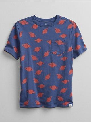 Detské tričko print t-shirt Modrá