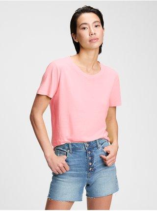 Tričko organic vintage Ružová