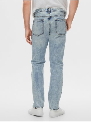 Modré pánské džíny v-straight light rigid