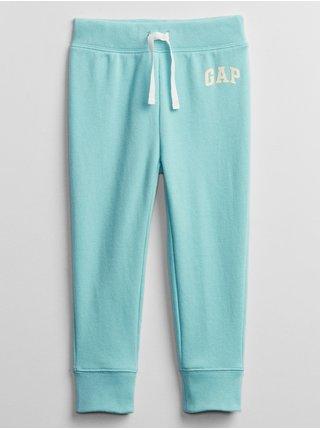 Detské tepláky GAP Logo pull-on pants Modrá
