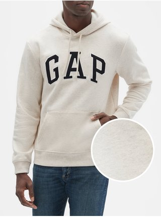 Bílá pánská mikina GAP Logo fleece arch