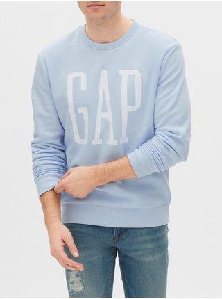 Mikina GAP Logo pullover sweatshirt Modrá