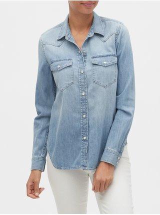 Modrá dámská džínová košile v-denim wstrn shrt lt sunshine