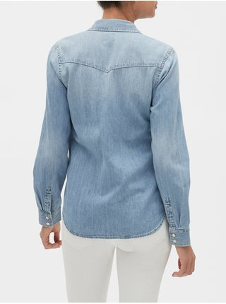 Košeľa denim western shirt Modrá