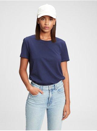 Modré dámské tričko organic vintage