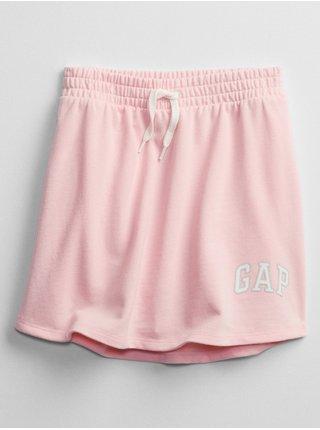 Růžové holčičí kraťasy GAP Logo v skort