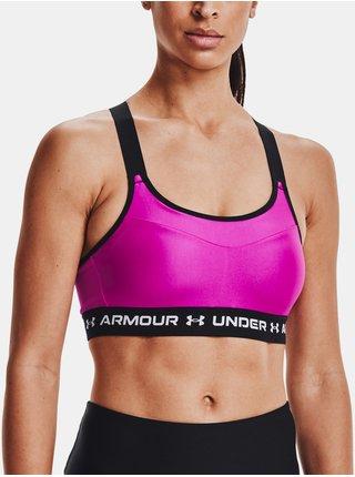 Sportovní podprsenka Under Armour High Crossback Bra - růžová
