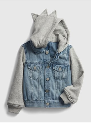Modrá klučičí dětská bunda dinosaur denim jacket