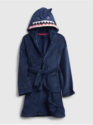 Modrý klučičí dětský župan shark robe