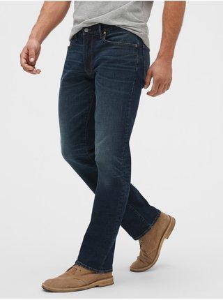 Modré pánské džíny v-straight dark cypress