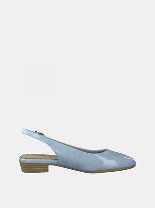Světle modré lesklé baleríny Tamaris