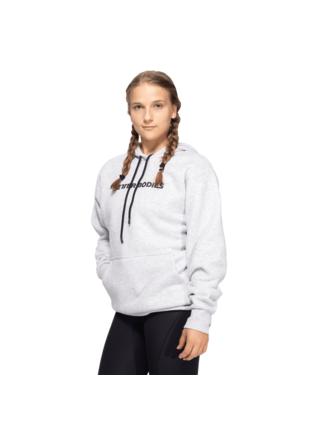 Mikina Better Bodies Logo Hoodie Light Grey Melange