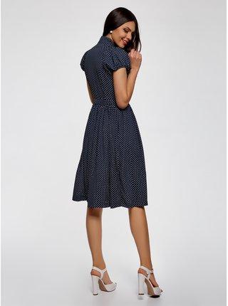 Šaty midi sa zvonovou sukňou OODJI