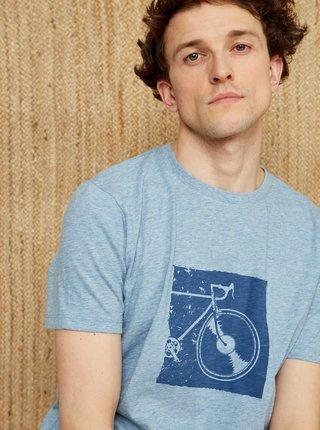 Modré pánské tričko s potiskem ZOOT Philip