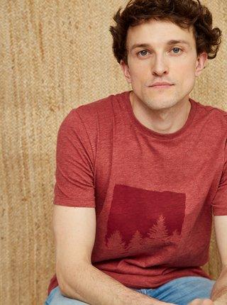 Červené pánské tričko s potiskem ZOOT Philip